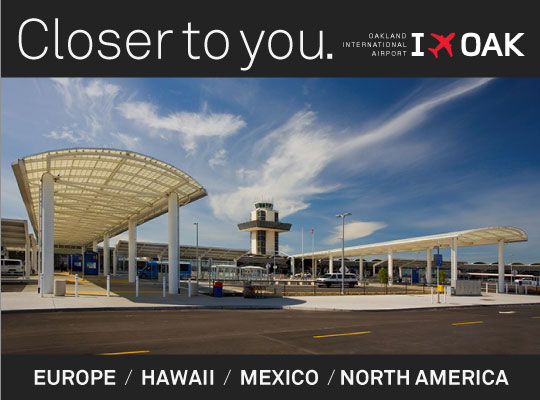 Closer to you. I FLY OAK - Europe, Hawaii, Mexico, North America