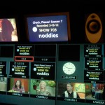 Taping Noddies in control room at KQED