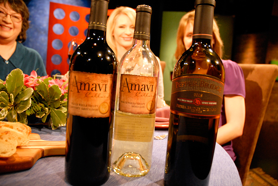 Wine on set of Check, Please Bay Area episode 701