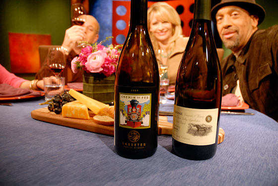 Wines drank on set of Check, Please! Bay Area episode 705