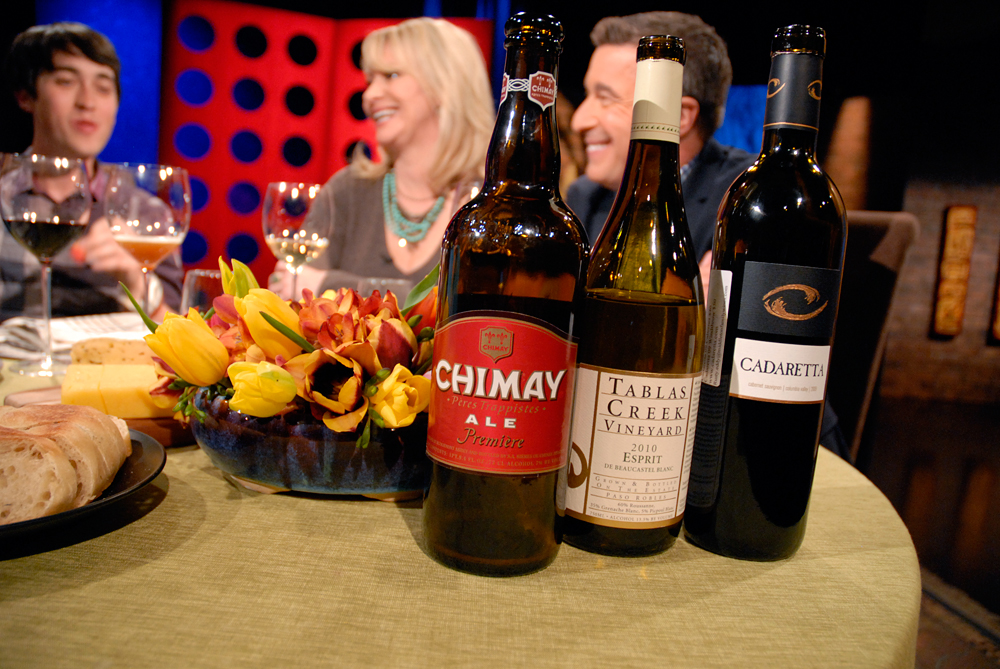 Wine and beer that Leslie Sbrocco and guests drank on the set of Check, Please Bay Area episode 808. Photo: Wendy Goodfriend