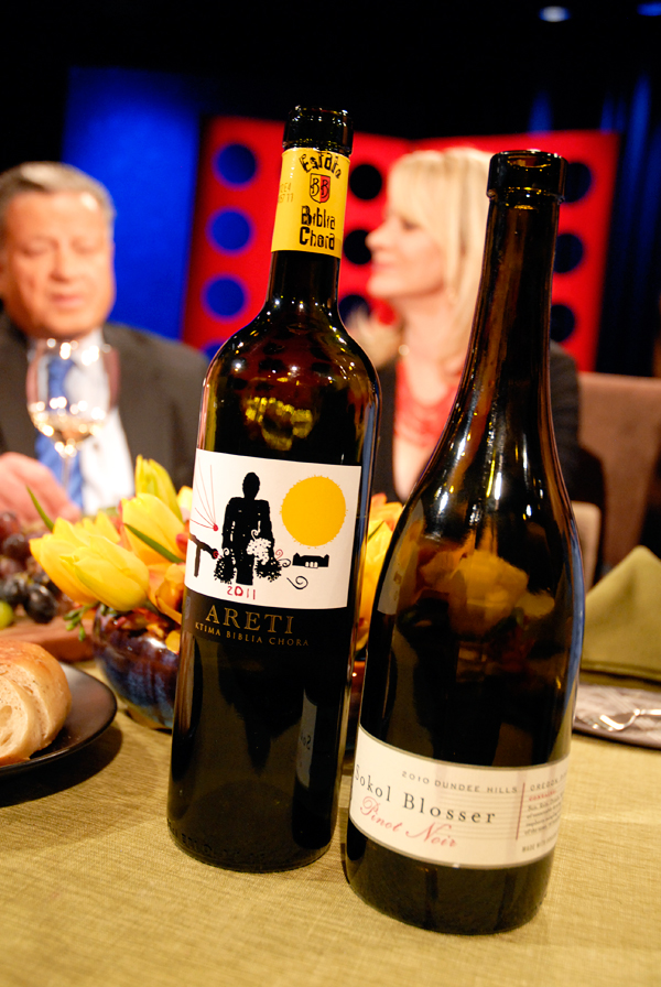 Wine and beer that Leslie Sbrocco and guests drank on the set of Check, Please Bay Area episode 809. Photo: Wendy Goodfriend