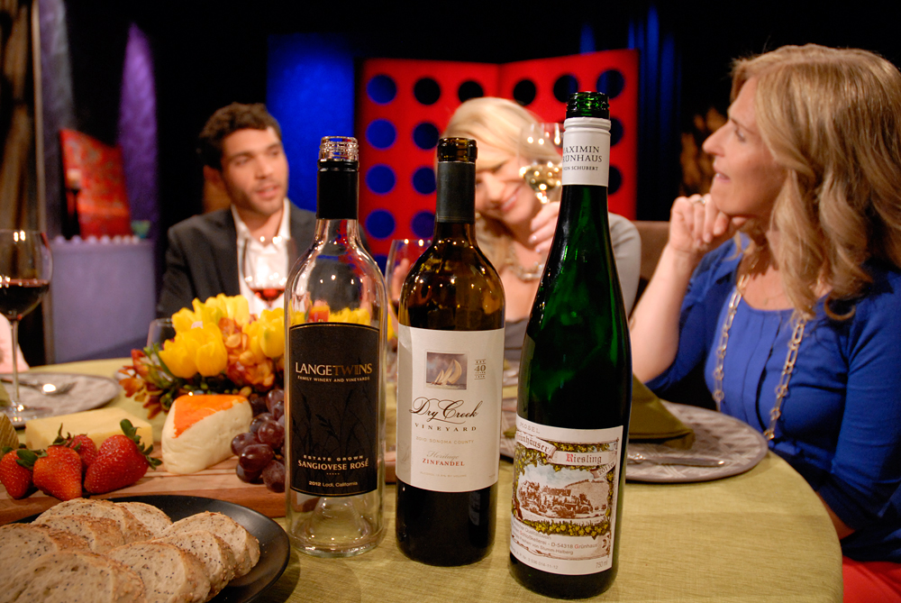Wine that Leslie Sbrocco and guests drank on the set of Check, Please Bay Area episode 810. Photo: Wendy Goodfriend