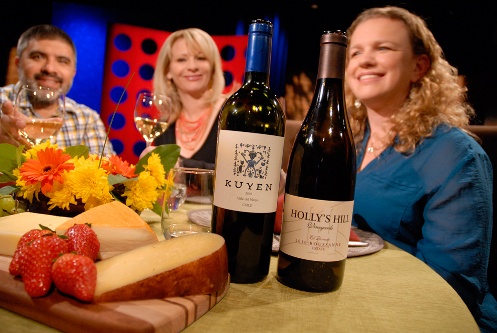 Wine that Leslie Sbrocco and guests drank on the set of Check, Please Bay Area episode 811. Photo: Wendy Goodfriend