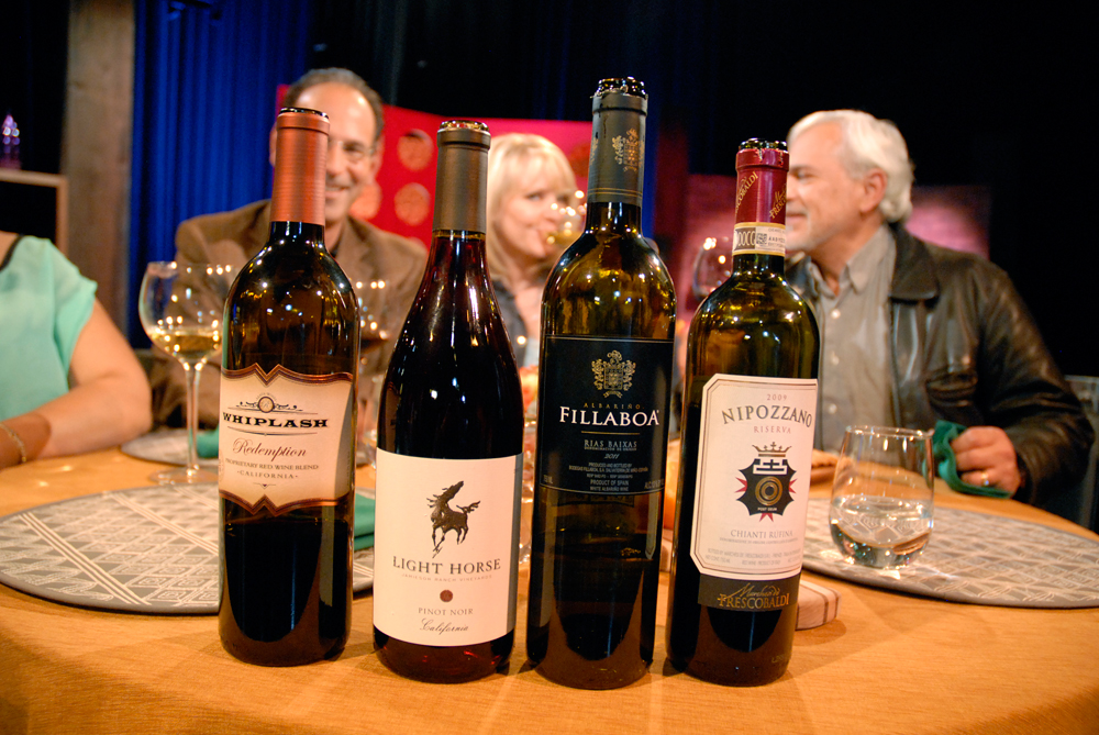 Wines that Leslie Sbrocco and guests drank on the set of Check, Please Bay Area episode 903. Photo: Wendy Goodfriend