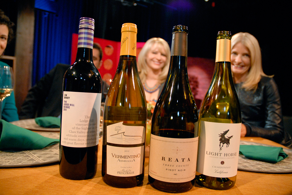 Wines that Leslie Sbrocco and guests drank on the set of Check, Please Bay Area episode 905. Photo: Wendy Goodfriend