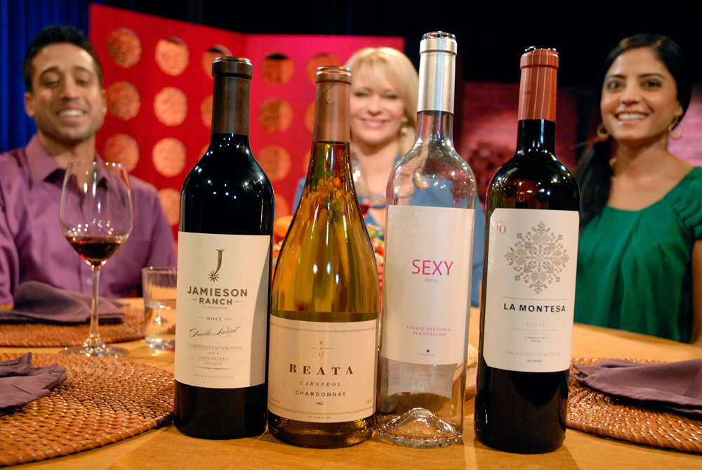 Wines that Leslie Sbrocco and guests drank on the set of Check, Please Bay Area episode 911. Photo: Wendy Goodfriend