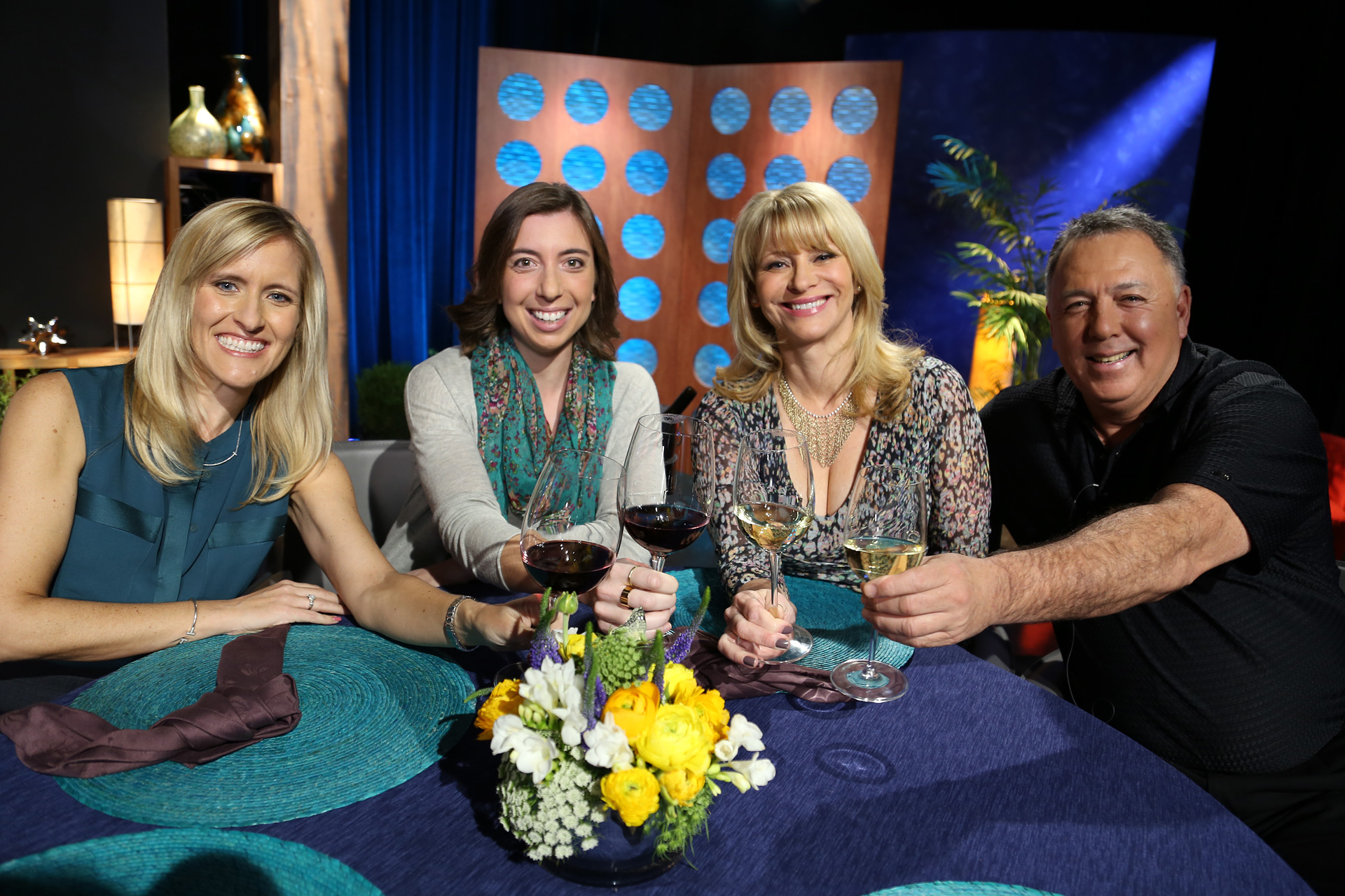 Host Leslie Sbrocco and guests on the set of the episode 10 of season 11.
