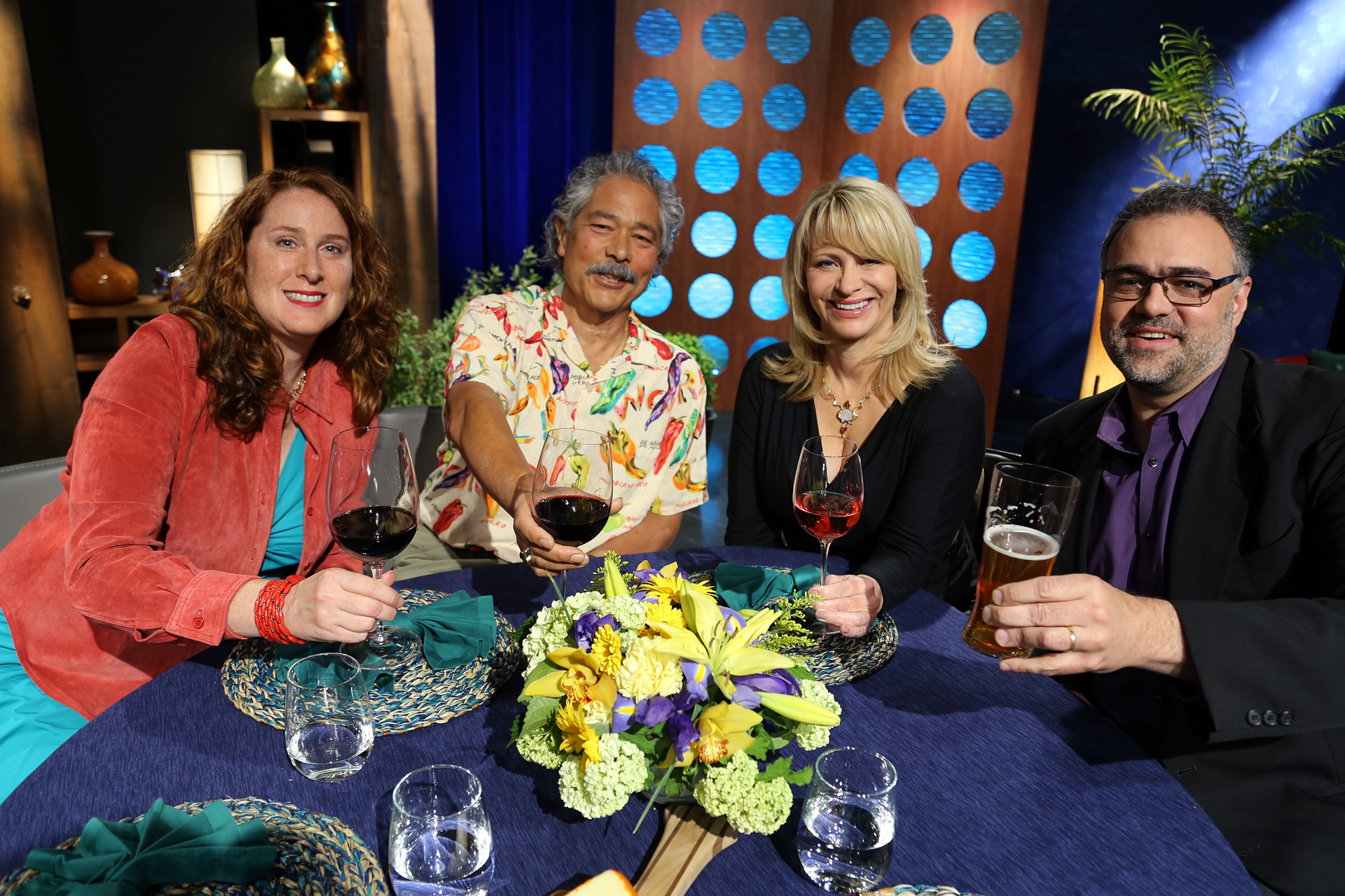 Host Leslie Sbrocco and guests on the set of the episode 13 of season 11.