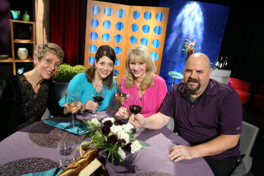 Host Leslie Sbrocco and guests on the set of the premiere episode of season 12. Photo: Wendy Goodfriend