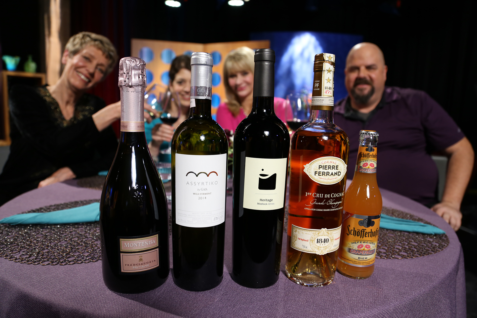 Wines that guests drank on the set of the premiere episode of season 12.