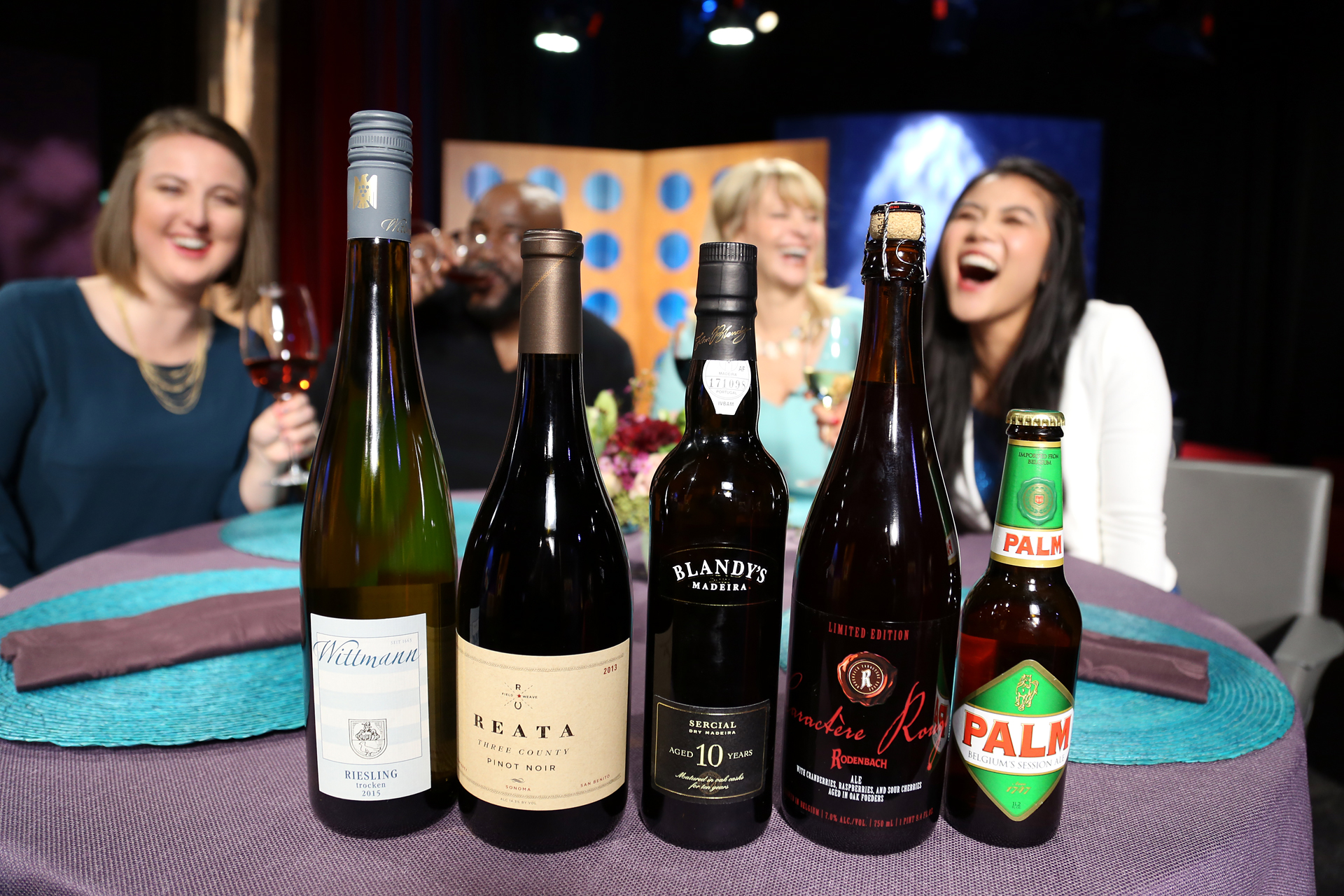 Wines that guests drank on the set of season 12 episode 3.