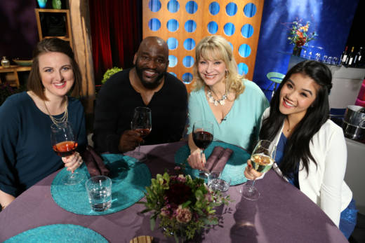 Host Leslie Sbrocco and guests on the set of season 12 episode 3. Photo: Wendy Goodfriend
