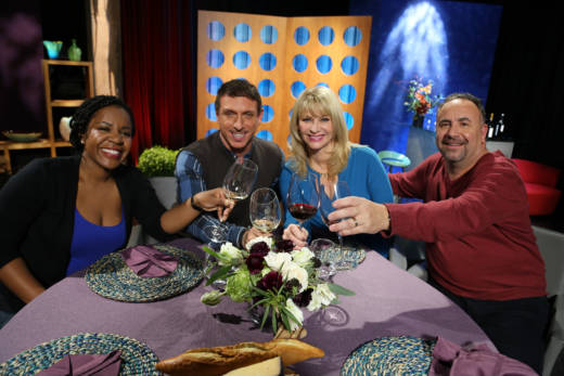 Host Leslie Sbrocco and guests on the set of season 12 episode 2. Photo: Wendy Goodfriend