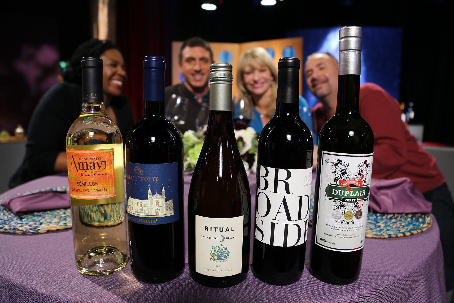 Wines that guests drank on the set of season 12 episode 2.