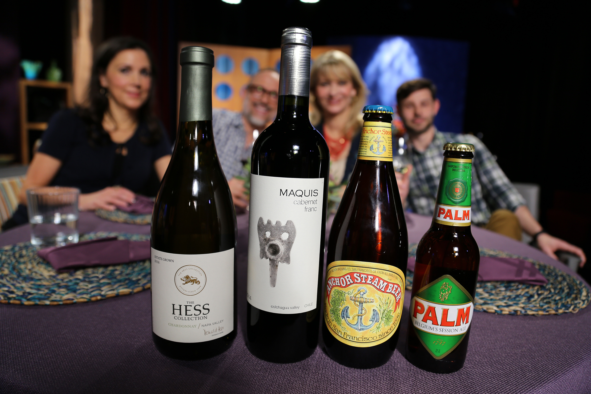 Wine and beer that guests drank on the set of season 12 episode 5.