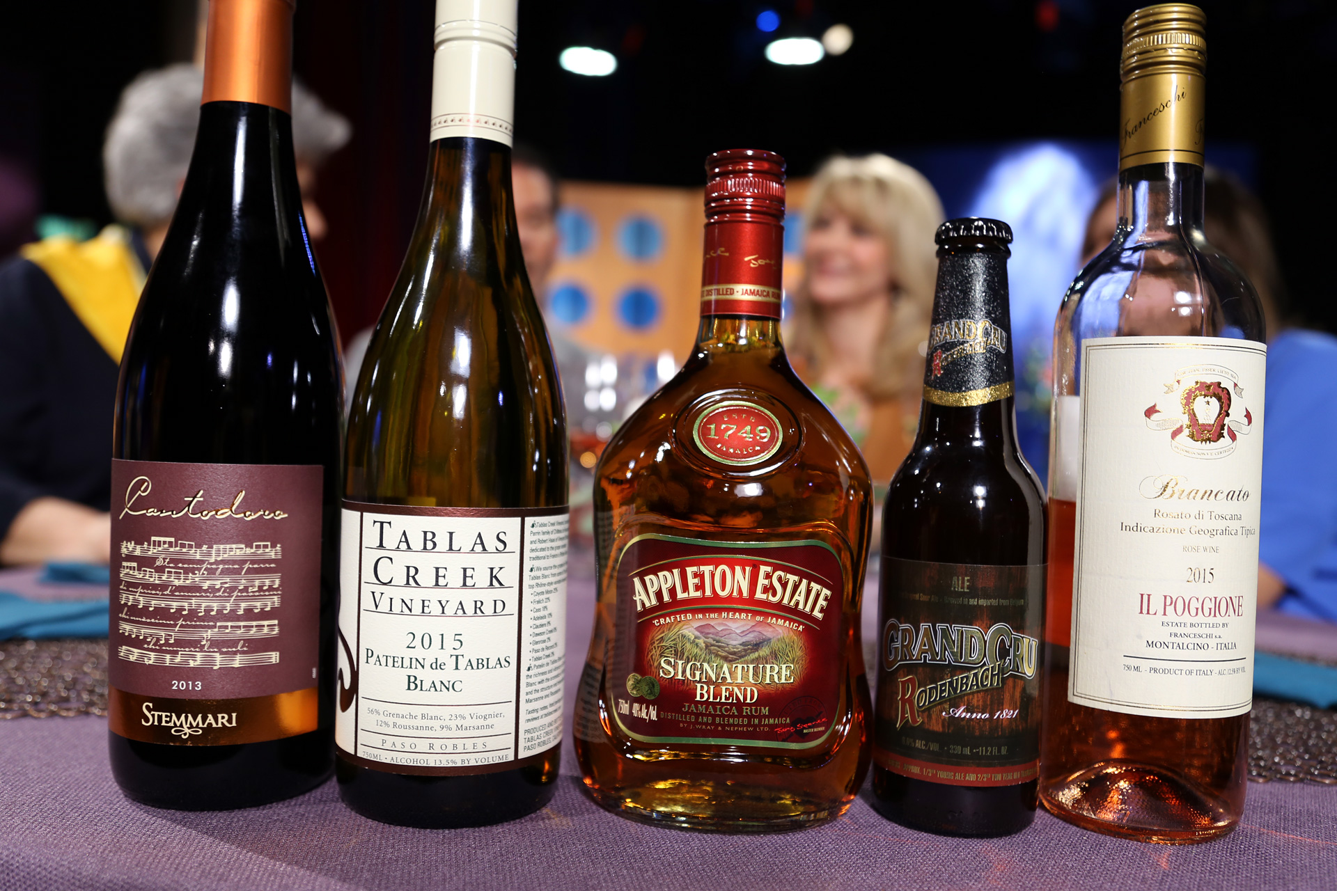 Wine and spirits that guests drank on the set of season 12 episode 8.