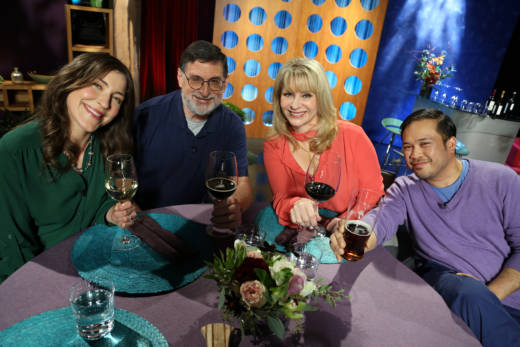 Host Leslie Sbrocco and guests on the set of season 12 episode 4. Photo: Wendy Goodfriend