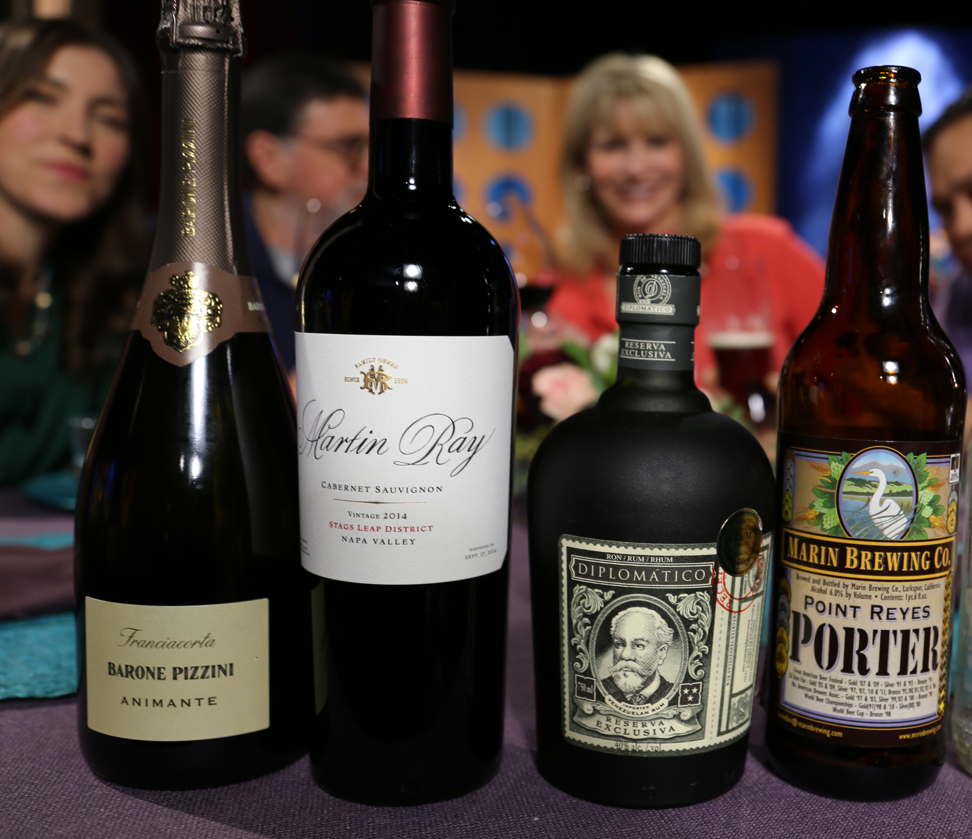 Wine, beer and spirits that guests drank on the set of season 12 episode 4.