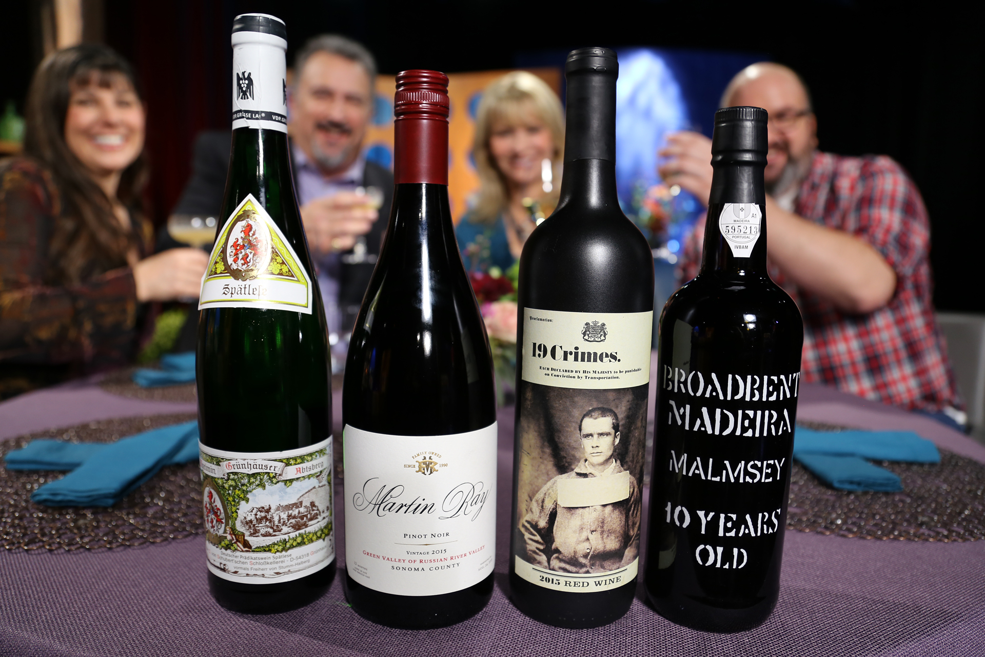 Wine that guests drank on the set of season 12 episode 6.