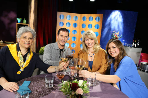 Host Leslie Sbrocco and guests on the set of season 12 episode 8. Photo: Wendy Goodfriend