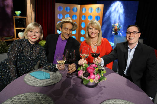 Host Leslie Sbrocco and guests on the set of season 12 episode 15. Photo: Wendy Goodfriend