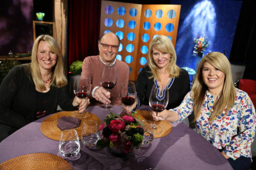 Host Leslie Sbrocco and guests on the set of season 12 episode 17.