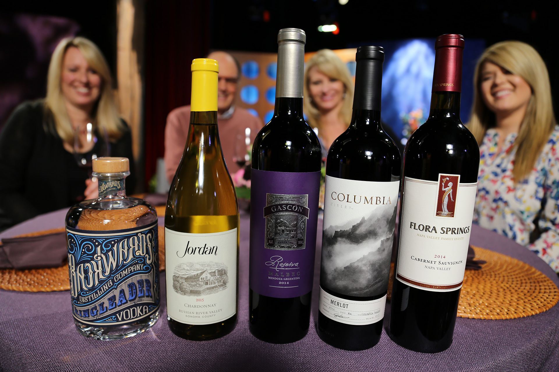 Wine and spirits that guests drank on the set of season 12 episode 17.