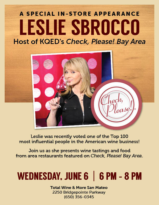 Wine Tasting and Pairing Event with Leslie Sbrocco