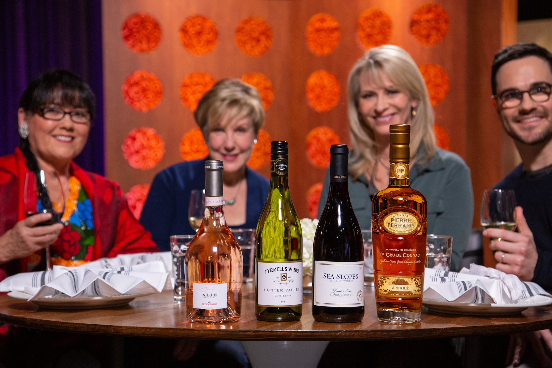 Wine and spirits that guests drank on the set of season 14 episode 5.