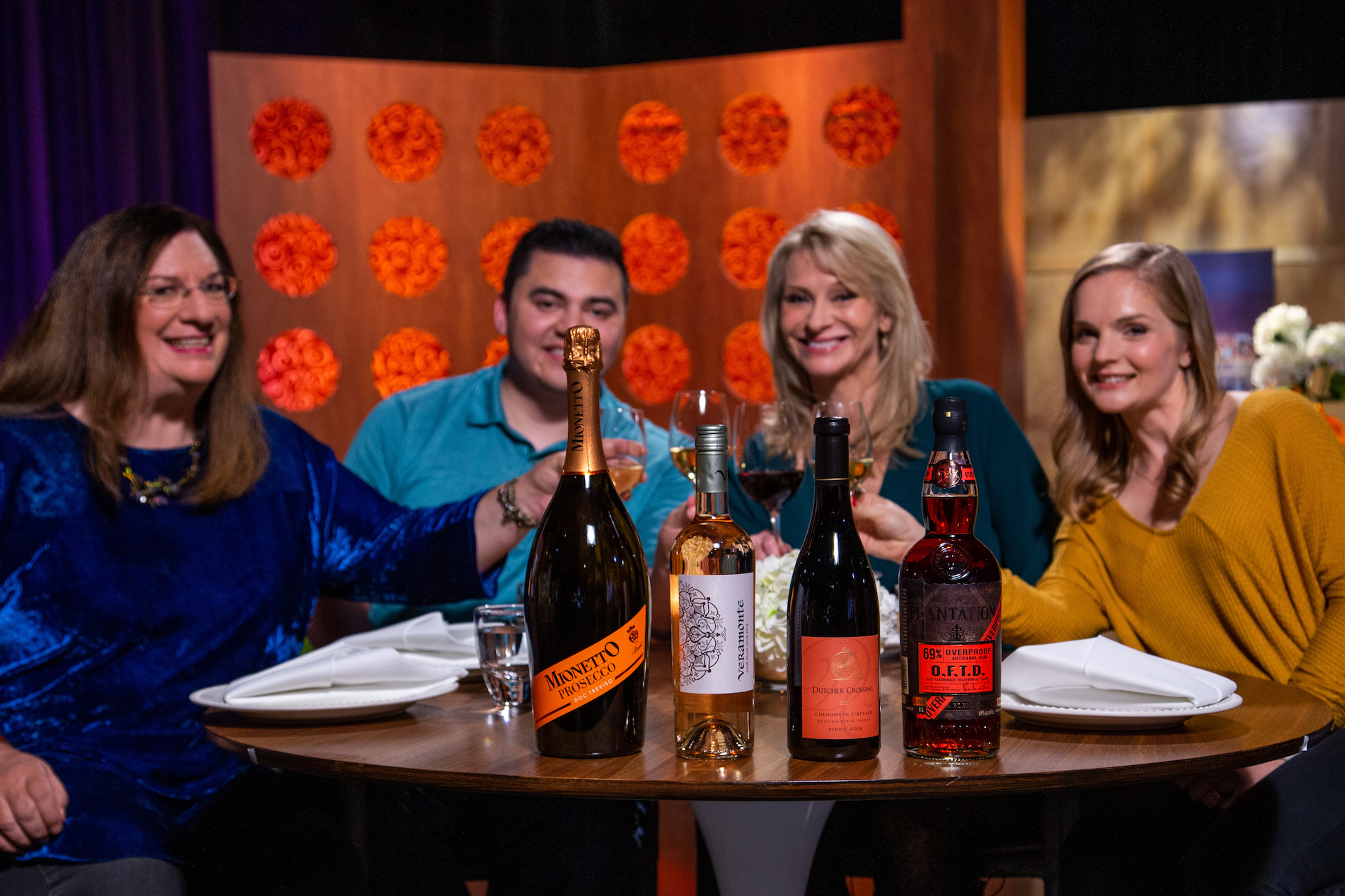 Wine and spirits that guests drank on the set of season 14 episode 4.