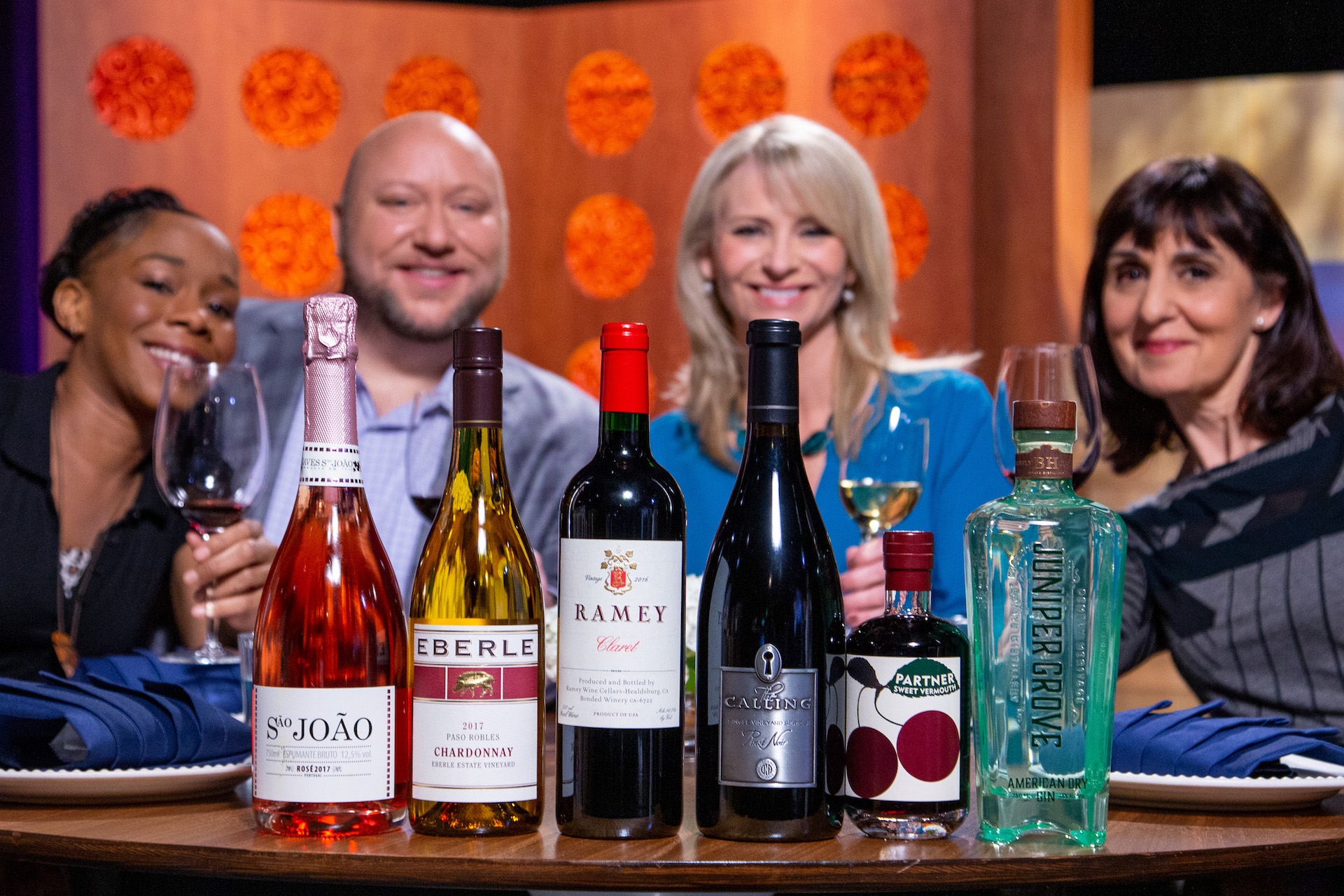 Wine and spirits that guests drank on the set of season 14 episode 12.