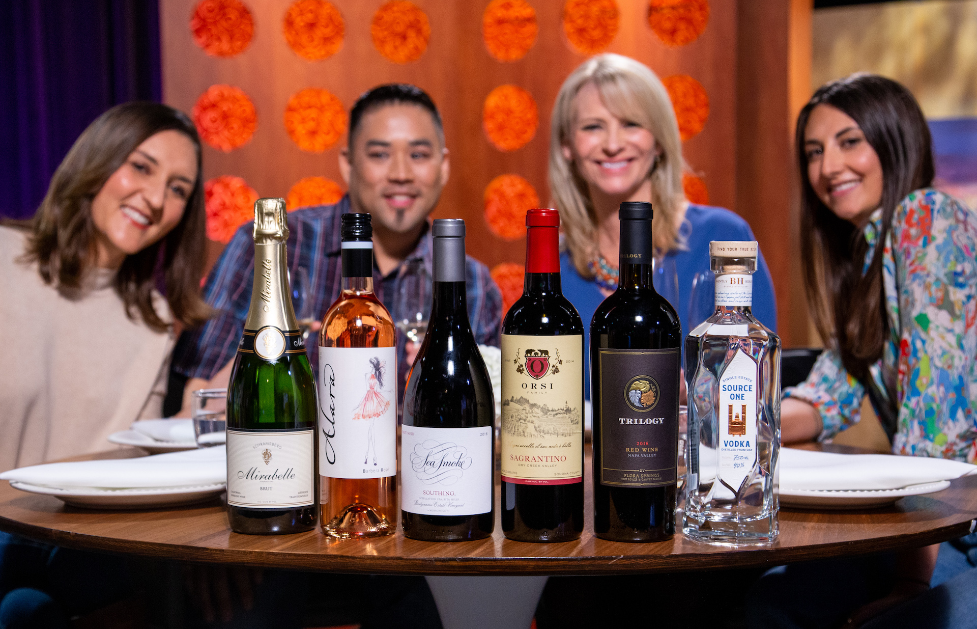 Wine and spirits that guests drank on the set of season 14 episode 13.