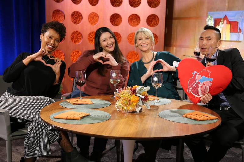 Host Leslie Sbrocco and guests on the set of season 15 episode 3.