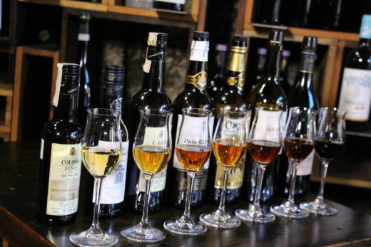 Sherry tasting at Duende in Oakland