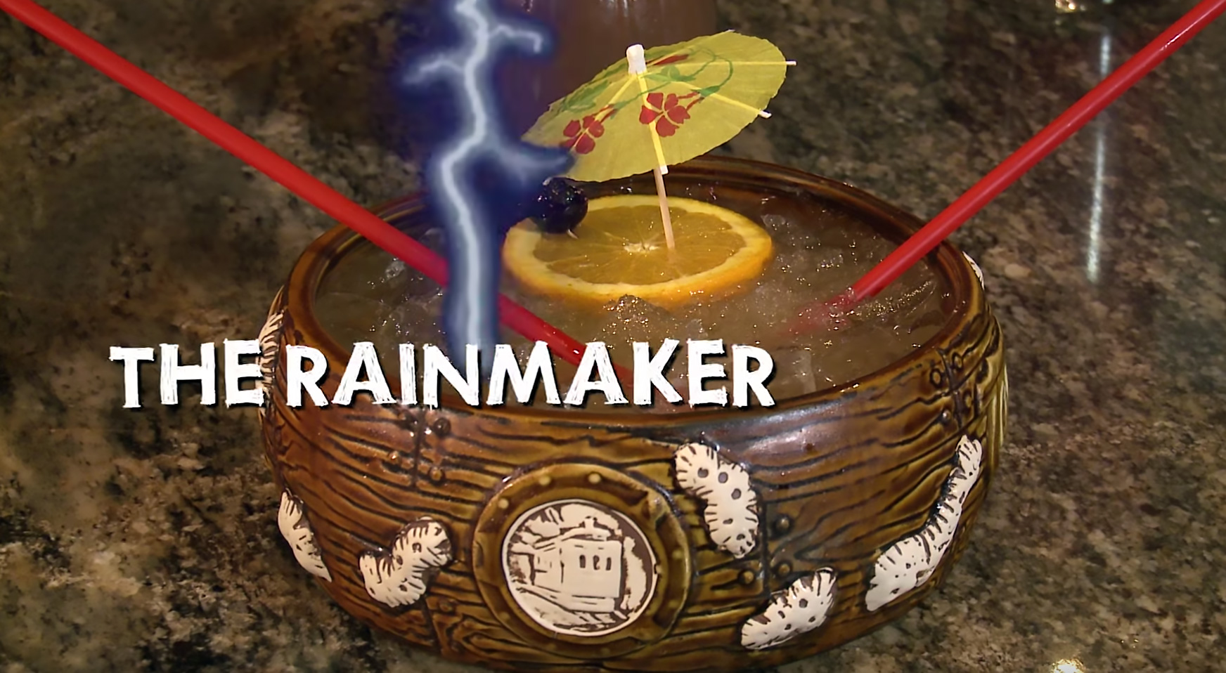 The Rainmaker cocktail at the Tonga Room