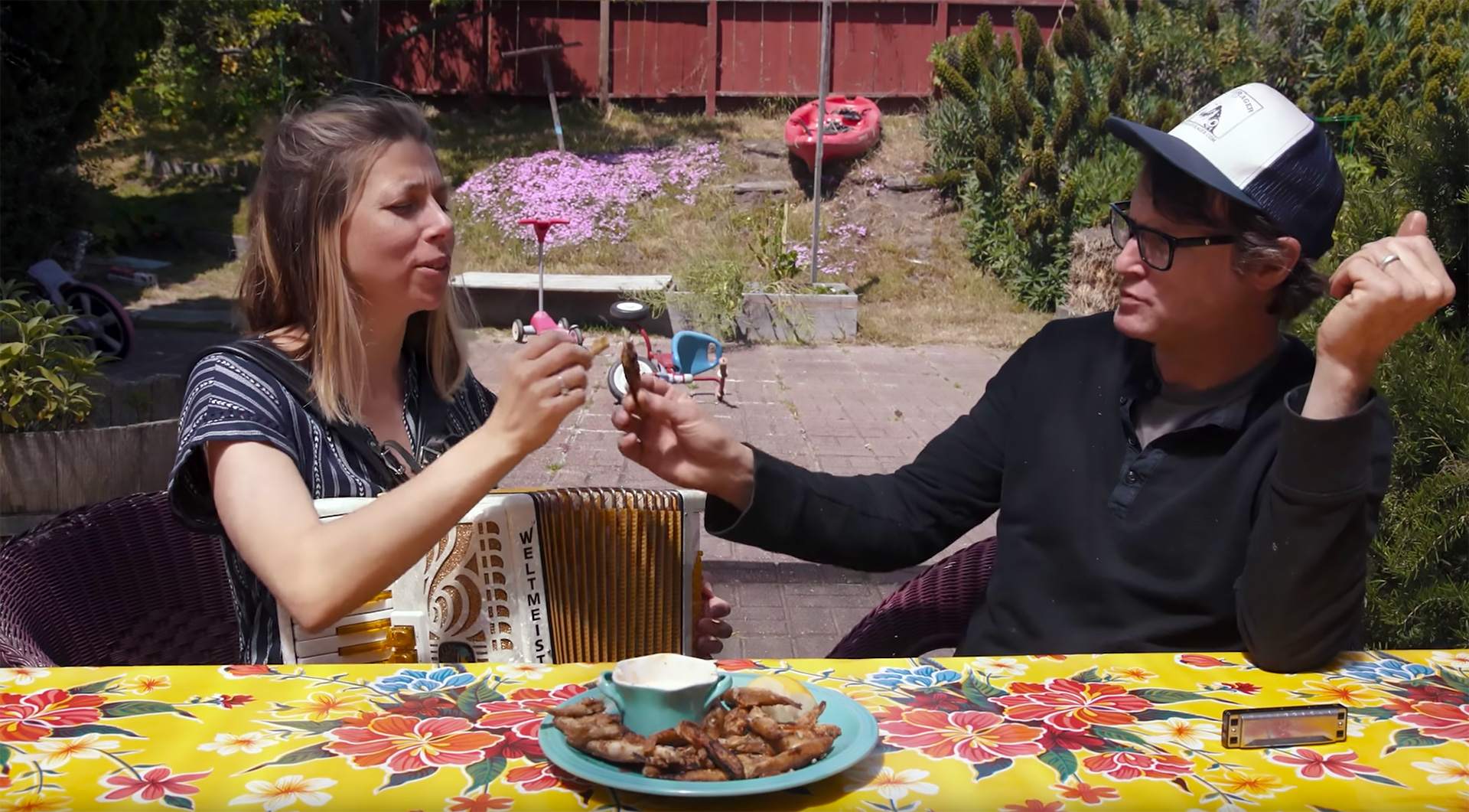 "Kirk and Camilla Lombard toast the bounty of foraged smelt with one of their favorite recipes, ""fries with eyes."""