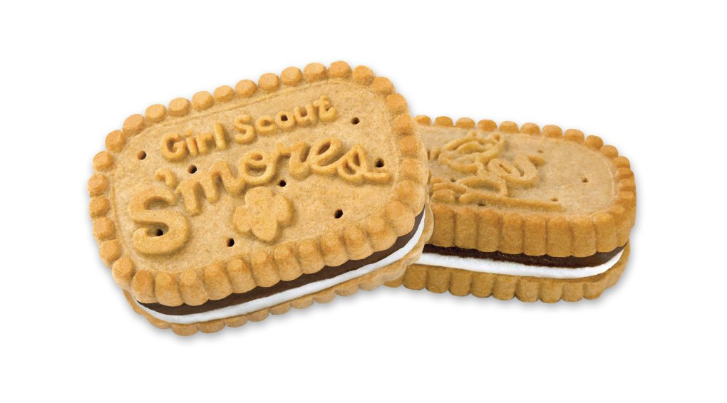 S'mores are the new cookie in the Girl Scouts' sales lineup for 2017. The cookie that pays homage to the great camp-out treat will be on sale from Feb. 1 through March 5 in Northern California.(Photo courtesy of the Girl Scouts)