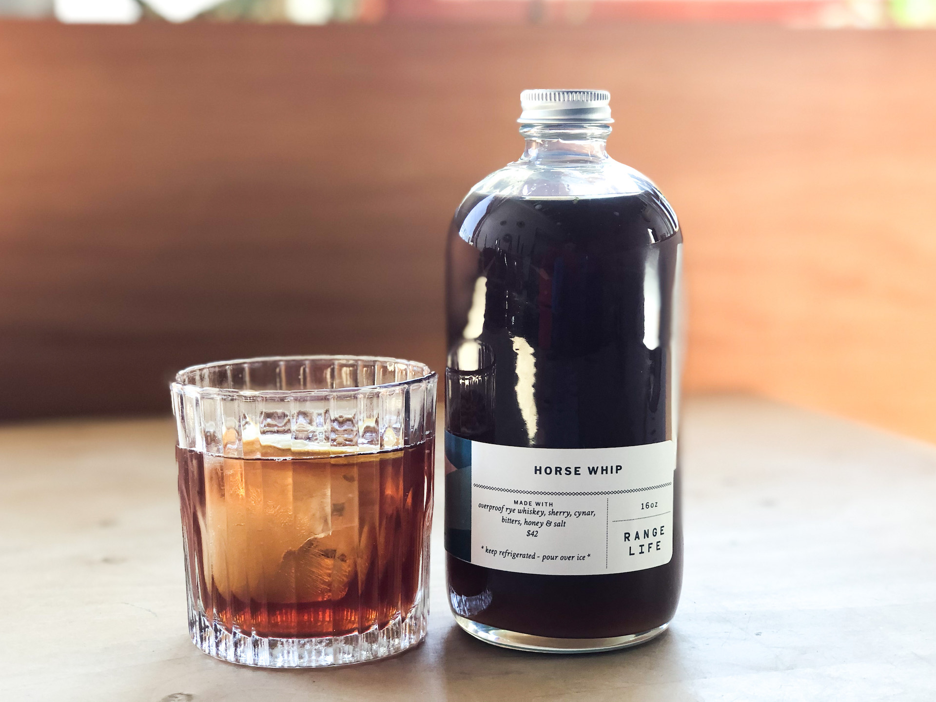 Range Life is offering takeout cocktail mixes including this boozy, butterscotch-laced slow sipper aptly titled Horse Whip.