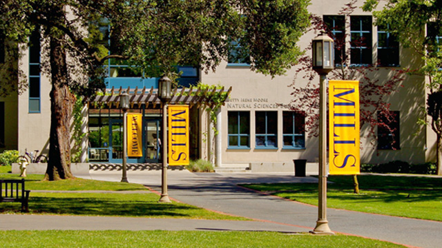 The campus of Mills College in Oakland.