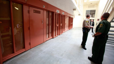 Inside the security housing unit at Pelican Bay State Prison