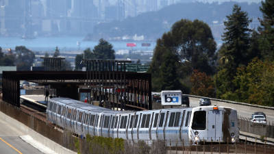 a bart train