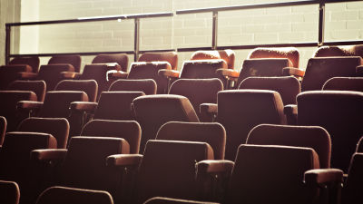 an empty theater