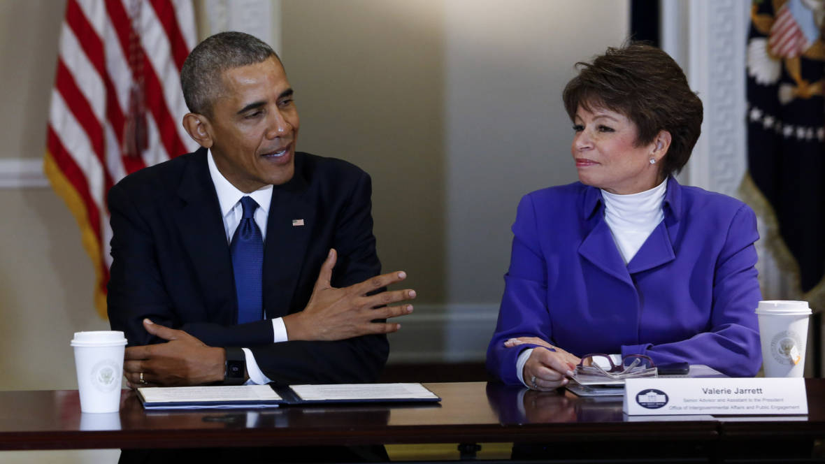 Image result for president obama valerie jarrett