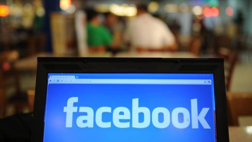 In a picture taken on May 15, 2012, a logo of social networking facebook is displayed on a laptop screen inside a restaurant in Manila.