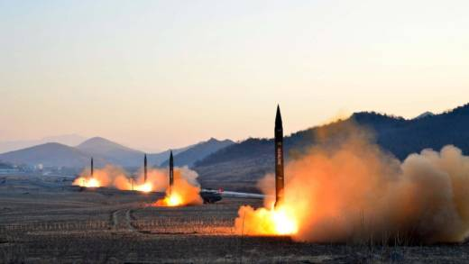 the launch of four ballistic missiles by the Korean People's Army (KPA) during a military drill