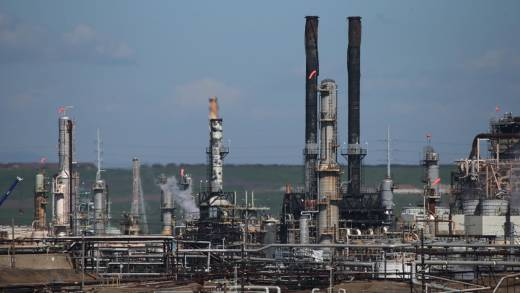 A view of a Chevron refinery on March 3, 2015 in Richmond, California.