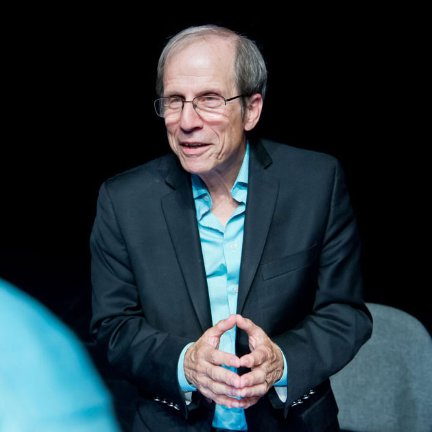Michael Krasny addressing live audience