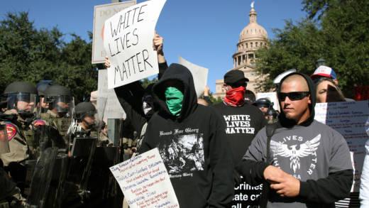 white lives matter protest