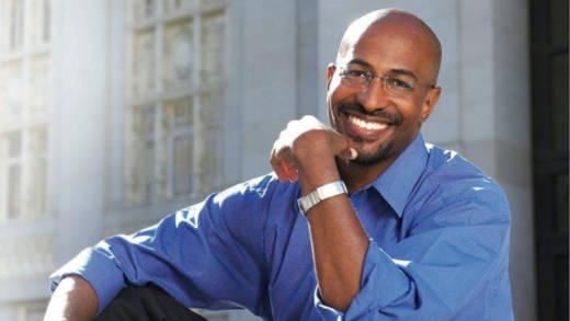 Van Jones poses for a portrait.